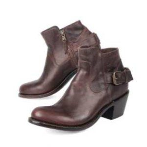 J B DILLON ANKLE BOOTS LEATHER SZ10 NEW